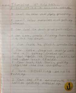 Charlie's brilliant sense poem!