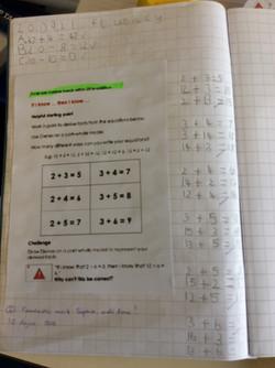 Sophie's excellent maths!
