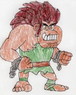 Lara's brilliant cartoon character!
