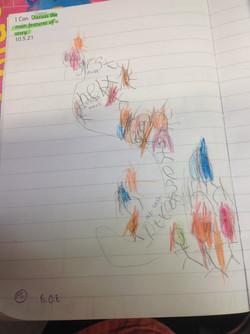 Reggie's brilliant story map!