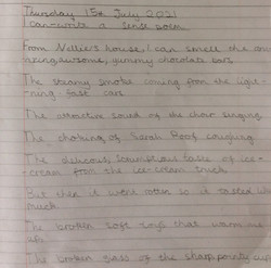 Alisha's wonderful sense poem!