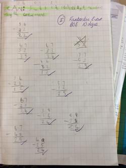 Evan's brilliant maths!
