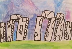 Melissa's amazing stone age painting!