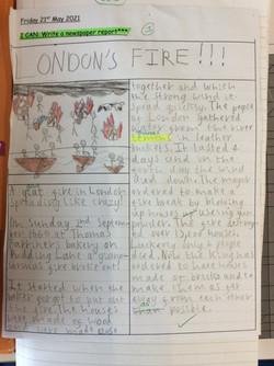 Scarlet's amazing newspaper report!