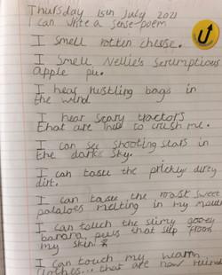 Eesa's wonderful sense poem!