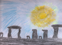 Nouf's excellent Stone Age drawing!