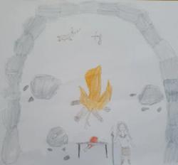 Amber's amazing Stone Age art!