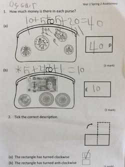 Oscar's brilliant maths!