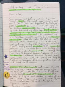 Bethan's brilliant diary entry!