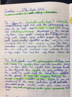 Alisha's brilliant setting description!.