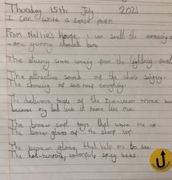Ruby Jane's wonderful sense poem!