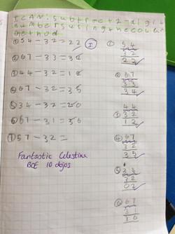 Celestine's brilliant maths!