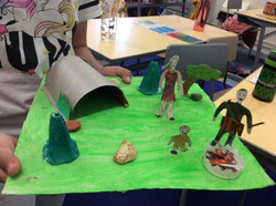 Nouf's incredible Stone Age model!