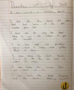 Kelly's amazing sense poem!