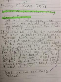 Arthur's brilliant writing!
