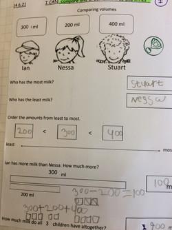 Natasha's excellent maths!