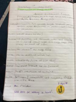 George's fantastic play script!