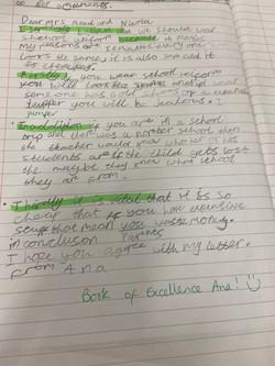 Ana's brilliant writing!