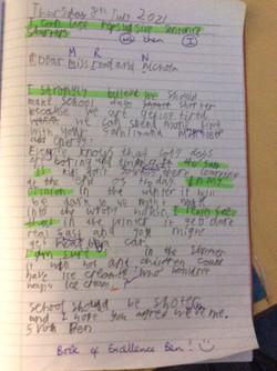 Ben's fantastic writing!