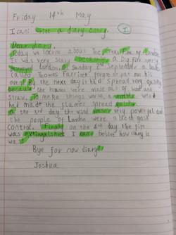 Joshua's wonderful writing!