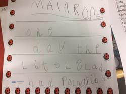 Maia-Rose's amazing writing!