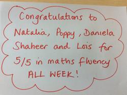 Amazing y6 mathematicians!