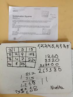 Nivetha's incredible maths!
