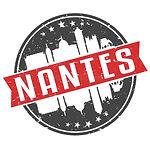 nantes-francia-ronda-sello-de-viaje-icono-skyline-ciudad-diseño-turismo-cinta-vector-ilust