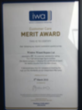 Window Wizard Repairs Ltd IWA deposit & guarantee protection CUSTOMER CARE MERIT AWARD of 97% demonstrating that Window Wizard Repairs Ltd is meeting the HIGH QUALITY STANDARDS set by Independent Warranty which was awarded on 8th March 2018. Independent Warranty, 20 Billing Road, Northampton, NN1 5AW. 01604 604511. www.iwa.biz