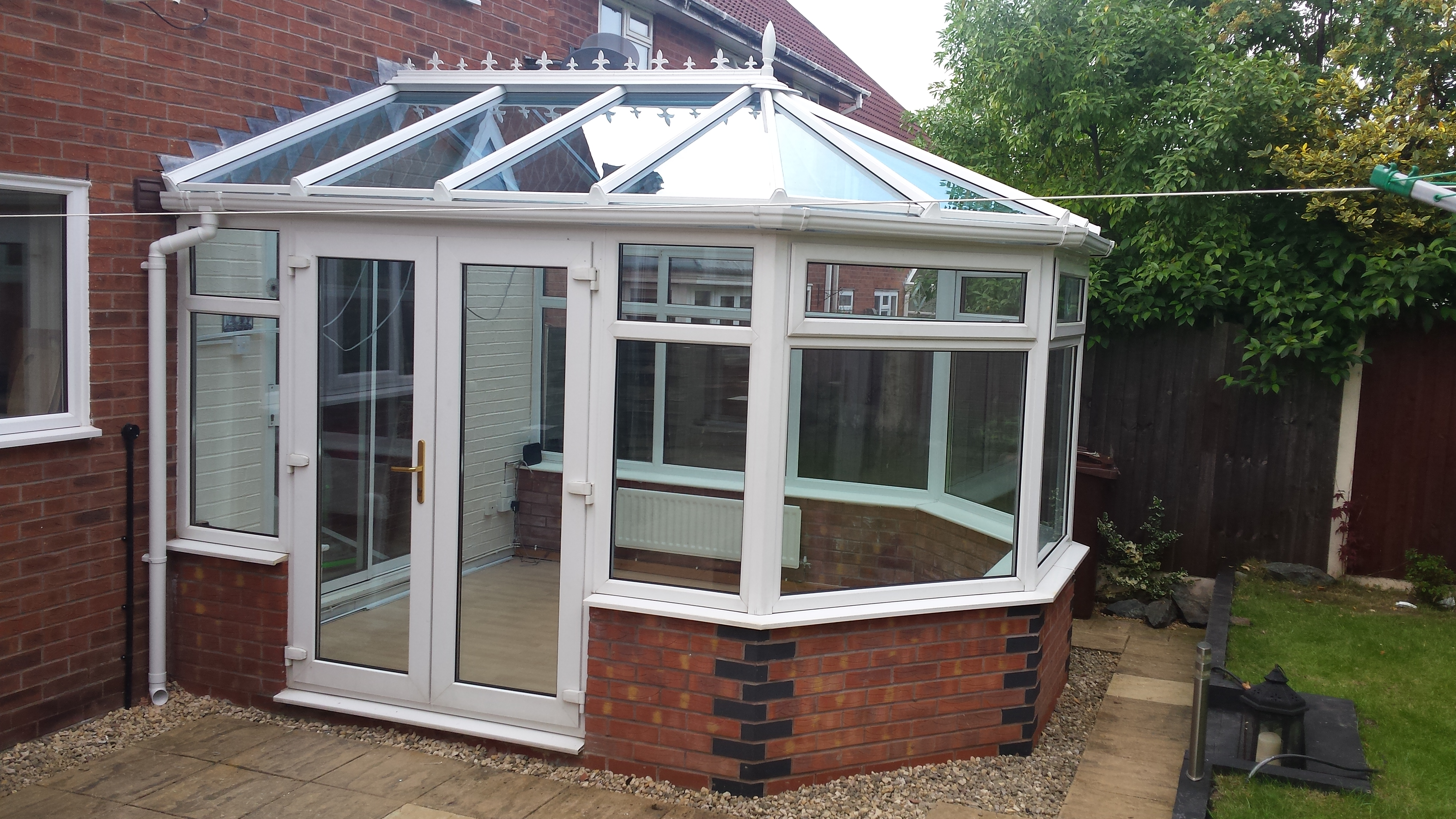 Conservatory glass roof replacement