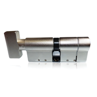 Anit snap thumb turn cylinder. Commonly used where multiple occupants need access and also for fire escape safety