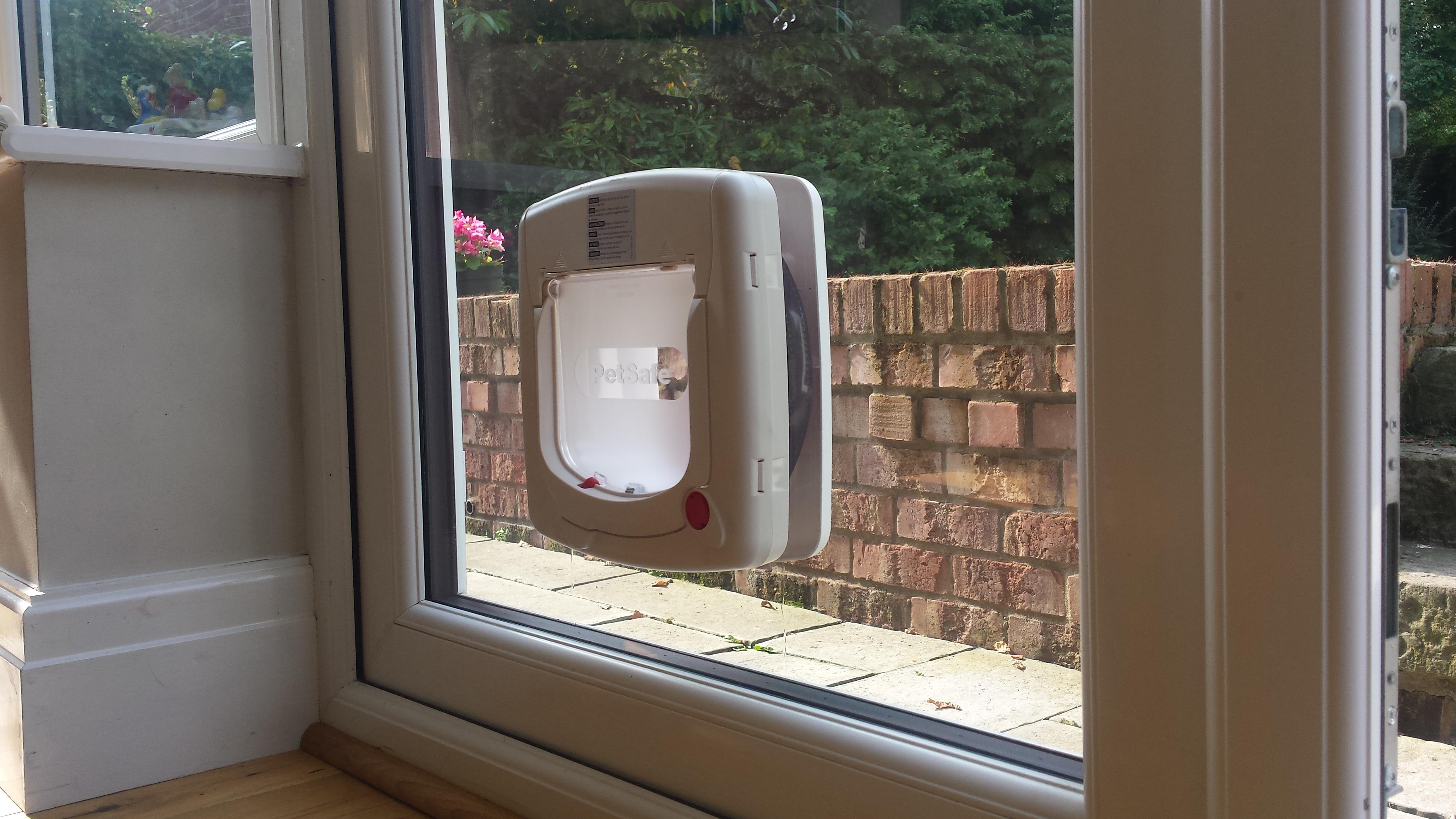 Cat Flap in double glazed upvc door