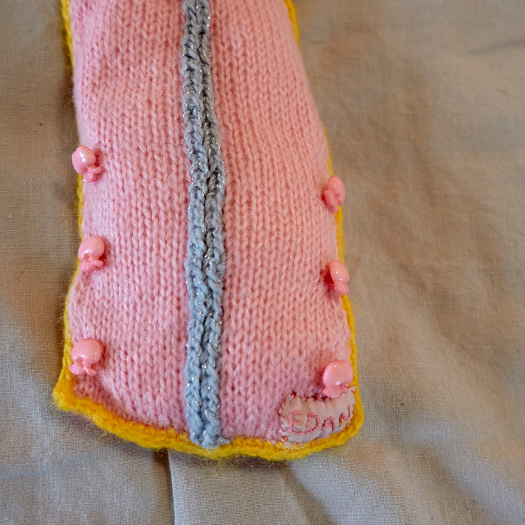 """Detail of knitted """"body parts"""" 5"""