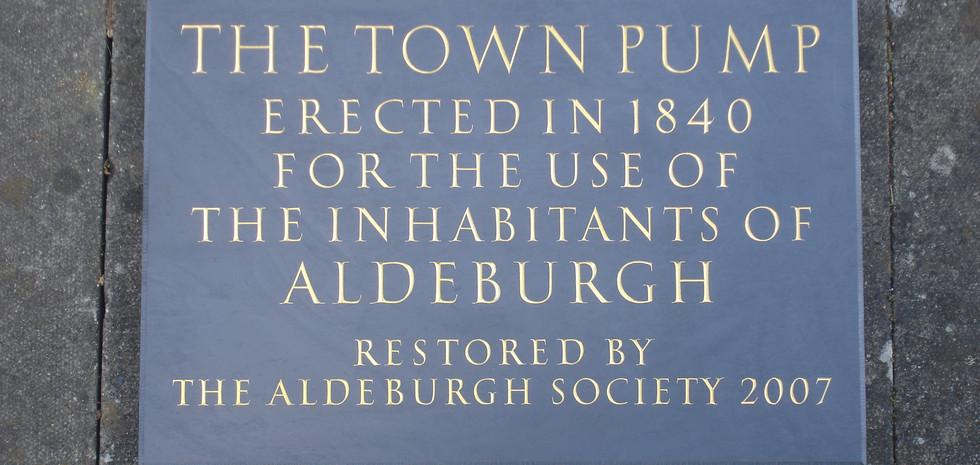 The Town Pump memorial in Aldebrugh Suffolk U.K.
