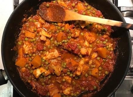 Vegan Cauliflower, Pumpkin and Pea Curry