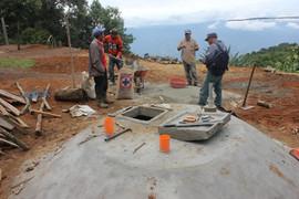 Construcción de cisternas de almacenamiento de agua de lluvia