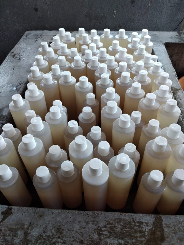 Jabón envasado, listo para ser entregado