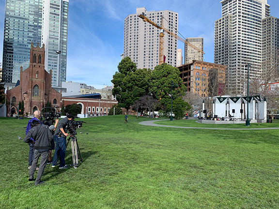 Gong Shoot at Yerba Buena Gardens