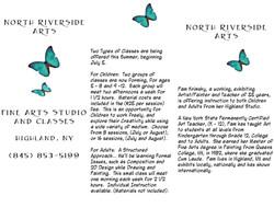 Pamphlet designed to advertise summer workshop