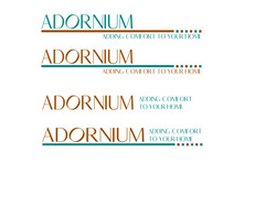 Variations of one of the logo designs done for ADORNIUM