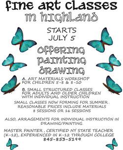 Flyer designed to advertise summer workshop