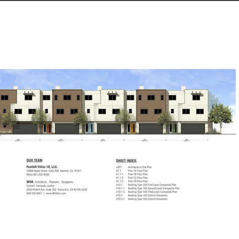 FOOTHILL VILLAS (NEW)