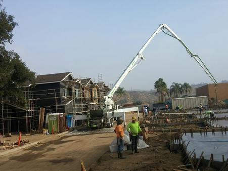 POURING FOUNDATIONS