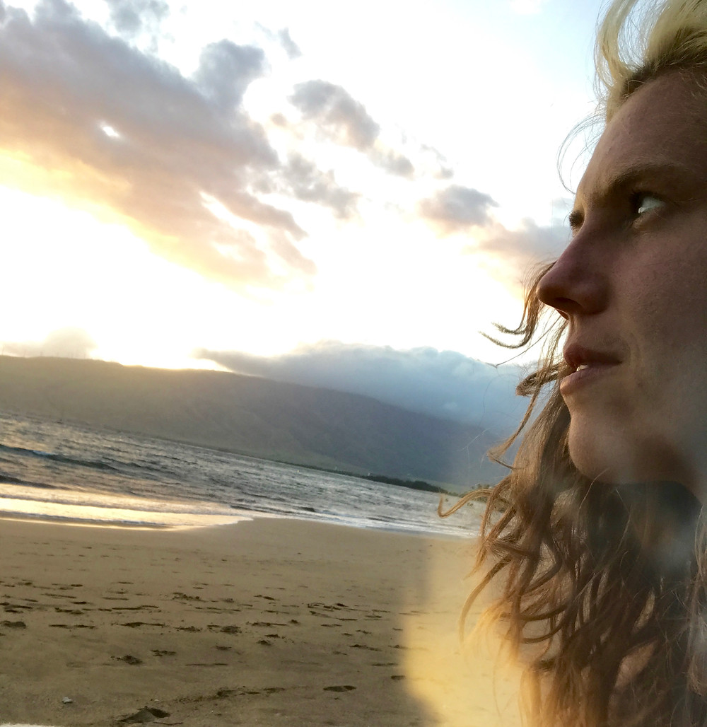maui sunset and angel auras