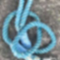 Teal Blue Rope Leash