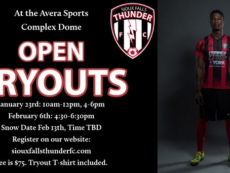 Open Tryouts Set for Early 2021