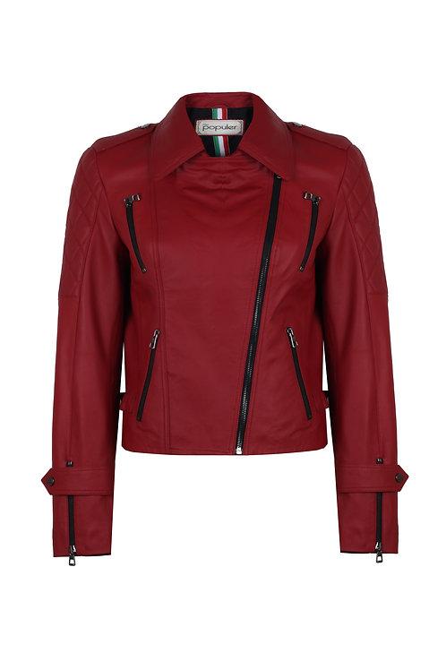 Women Collection Leather Biker Jacket 4274