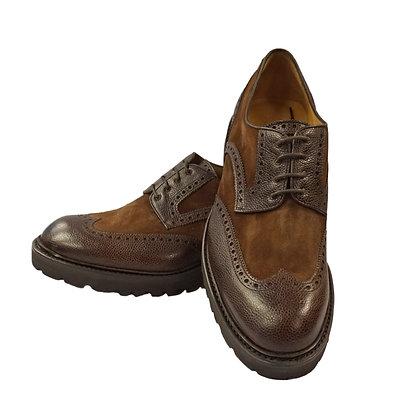 Carlos Santos Brown Wingtip shoe, Lug sole