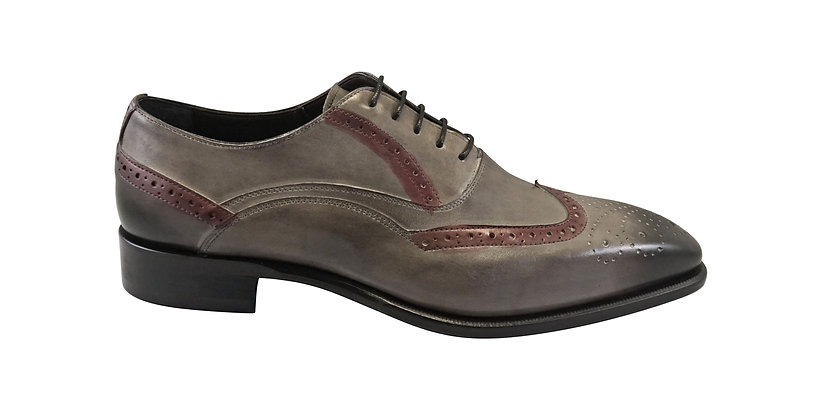 Men's Emilio Franco gray Italian Wingtip Shoe