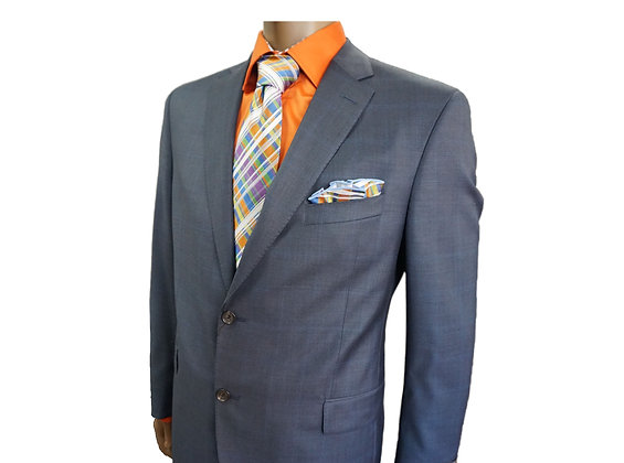 JACK VICTOR Single Breasted Blue mens designer Suit, Size 44R